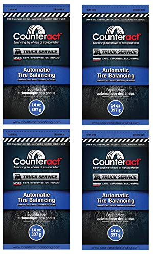 Wheel Tire Balancing 14 Ounce Counteract Beads - Four Pack of Counteract 14 oz TA Truck Service Tire Balancing Beads.