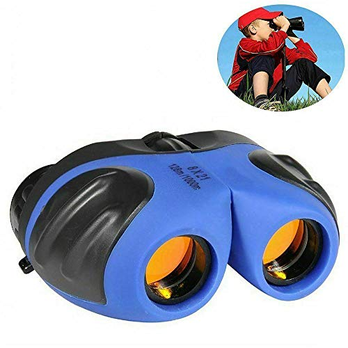 Best Deals! ZYD Color Binoculars 8X21 Children's Binoculars Compact Shockproof Children's Home Toy B...