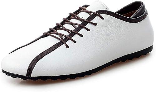 He-yanjing Chaussures Décontracté en Cuir pour Hommes, 2019 Printemps de Nouveaux Hommes Chaussures de Pois Britanniques Chaussures Décontracté Hommes à la Mode Chaussures,b,40