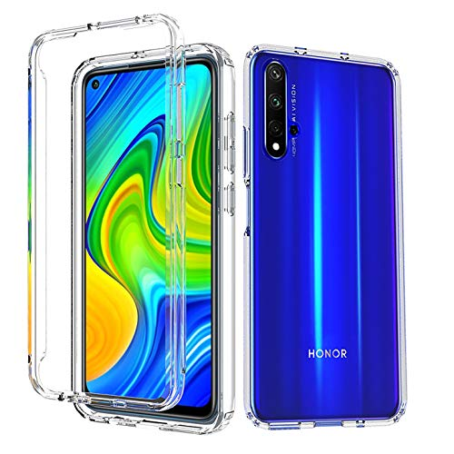 Tianyan Funda Huawei Nova 5T,360 Grados Full Body Anti-Shock Carcasa [Suave TPU Silicona Delantera y PC Duro Trasera] 2 in 1 Protección Funda para Huawei Nova 5T / Honor 20