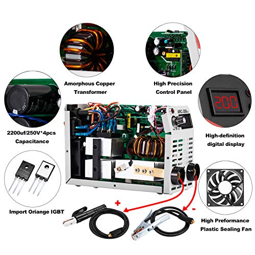 Arc Welder 110V 120Amp MMA Stick Welding Machine IGBT Inverter DC Welder LCD Display for Beginner with Electrode Holder Clamps