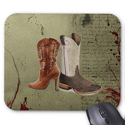 Getting Hitched Western Cowboy Boots Wedding Mouse Pad