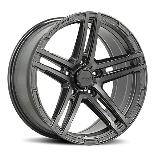 VENOMREX VR-501 17 Inch Flow Forged Wheel Compatible with 07-20 Jeep Wrangler JK, JL, Gladiator 5x5 (5x127) Bolt Pattern, 17x9 (-6mm Offset), 72mm Bore, Tungsten Graphite - 1 PC