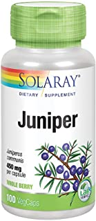 Solaray Juniper Berry 450 mg   Healthy Digestion, Cleansing & Water Balance Support   Antioxidant Activity   100 VegCaps