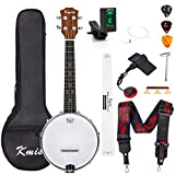 Banjo Ukulele Concert Size 23 Inch With Bag Tuner Strap Strings Pickup Picks Ruler Wrench Bridge