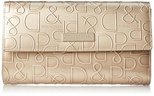 [ピンキーアンドダイアン] 財布 【ドルチェ】 エナメル ロゴ型押し ゴールド