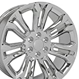 OE Wheels LLC 22 Inch Fits Chevy Silverado Tahoe GMC Sierra Yukon Cadillac Escalade CV43 Chrome 22x9 Rim Hollander 5666