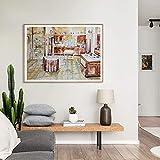 Arte de la Pared Acuarela Golden Girls Kitchen Print 90s TV Poster Canvas Painting Golden Girls Apartment Home Wall Decor-60x80cm No Frame