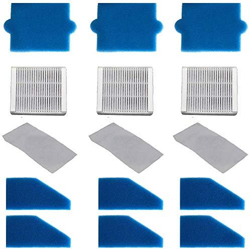 3x FILTER-SET komplett (15-teilig) für Pet & Family, Allergy & Family, Multi Clean X8 Parquet, Multi Clean X10 Parq, X7, Thomas Aqua+ Staubsauger alternativ wie Thomas Filterset 99 (Teile-Nr. 787241)