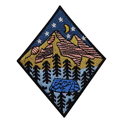 Finally Home Zelten in den Bergen Patch zum Aufbügeln | Camping Wald Patches, Bügelflicken, Flicken, Aufnäher