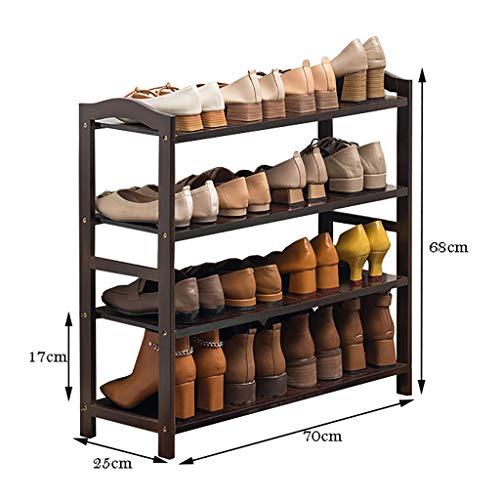 WSNBB Schuhregal, 4 Schichten Bambus Schuhregal, Reines Bambuslaminat, Gesund Und Umweltfreundlich (größe : 70cm)