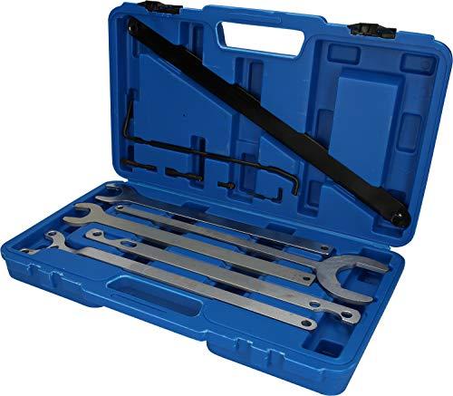 Brilliant Tools BT521250 Kit de clés pour moyeu de Ventilateur | 11 pcs, Bleu/Noir