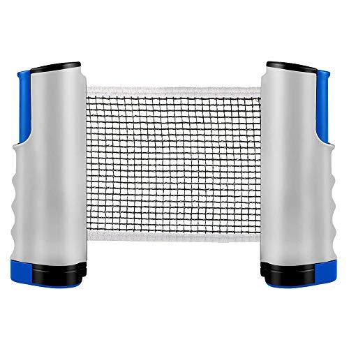 ZX DXIA Red de Tenis de Mesa Retráctil, Red Ajustable de Ping Pong Repuesto Portátil Retráctil Table Tennis Net Ping Pong Net, Longitud Ajustable 170 (MAX) x 14cm, para Accesorios Entretenimiento