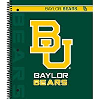 (Baylor Bears) - C.R. Gibson 5-Subject Spiral Notebook, College Ruled, Liscensed By NCAA, Measures 23cm x 28cm - Baylor Bears
