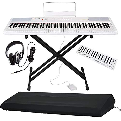 Artesia 電子ピアノ バリューセット 88鍵 PERFORMER/WH ホワイト (サスティンペダル/スタンド[BK]/ヘッドフォン/鍵盤デザインクロス付属) + GATOR製ピアノカバー付き