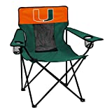 logobrands Officially Licensed NCAA Unisex Elite Chair, One Size,Miami Hurricanes