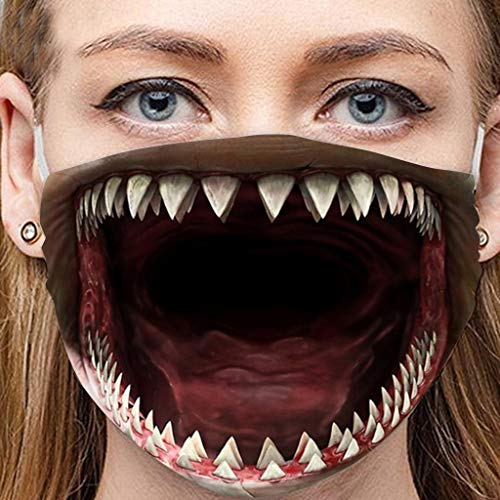 Lialbert Mundschutz Multifunktionstuch 3D Lustig Bandana Maske Waschbar Wiederverwendbar Stoffmaske Mundbedeckung Atmungsaktiv Mund-Nasenschutz Mund Nasen Motiv Halstuch Schals Herren Damen