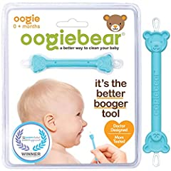 BEAR-ABLE SAFETY AND COMFORT - oogiebear's special rubber scoop and loop are gentle enough for sensitive little noses and ears and firm enough to clean quickly and effectively while the patented bearhead design ensures it never goes up too far. DUEL ...