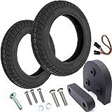 Vestigia® - Par de Neumáticos de 10 Pulgadas para Xiaomi M365, Pro Patinete Eléctrico - Kit para Ruedas - Wanda - (2 x neumáticos + Espaciador)