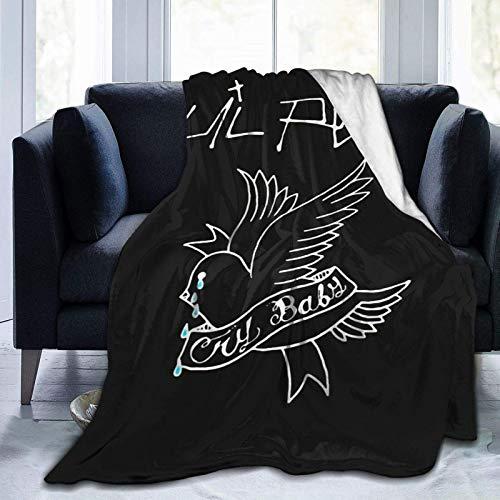 Tengyuntong Skin-Friendly Flannel Blanket Lil-Peep-Rapper Ultra-Soft Micro Fleece Soft and Warm Digital Printed 50x40 Inch