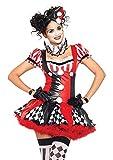 Leg Avenue Harlequin Clown Adult Sized Costumes da donna nero rosso M...