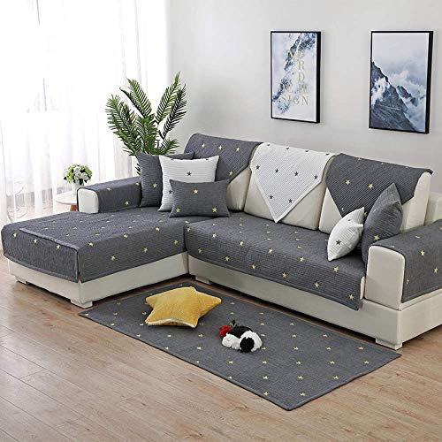 MKXF Kissenbezüge zum Schutz des Sofas vor Kindern, Ecksofabezug Sofabezug L-Form Sofabezug Baumwolle Anti-Rutsch-Fadeless-Sofa