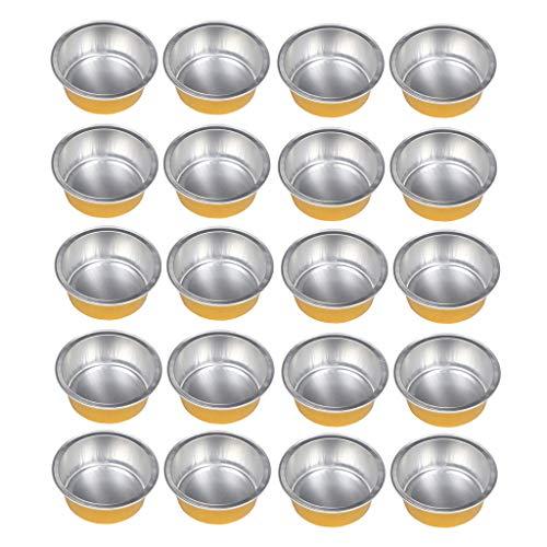 Sharplace 20pcs Granules de Cire de Papier D'aluminium Bol de Fusion de Perles de Cire de Cheveux Pot de Rangement 5.2x2cm