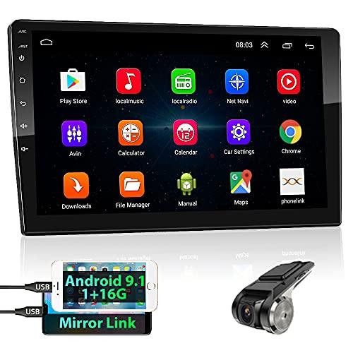 podofo 2 Din Android GPS Autoradio Stereo, 10.1   HD TouchScreen Lettore MP5 Audio per Auto Supporto Bluetooth WiFi GPS Mirroring del Telefono FM Controllo del Volante + Telecamera Posteriore