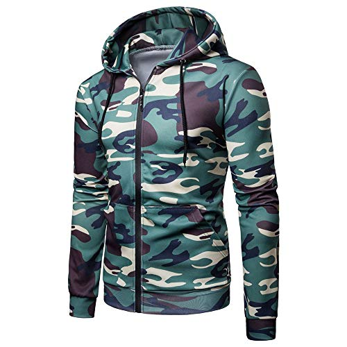 ZY Glaa Mens Midnight Camouflage Fleece Tracksuit Hoodie Zipper Joggers Adults Camo Combat Zip HoodiesHooded Top 6 Camo Colours to Choose from Digital Camouflage Hoodie