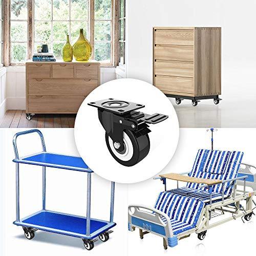51dqaCRyBAL. SL500  - DOUYAO Ruedas para muebles,ruedas muebles,ruedas para palets,4 ruedas giratorias con función de frenado, ruedas de goma para muebles