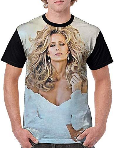Casual Shirt Beautiful Sexy Woman Famous Actress Short Sleeve Crewneck Mens' T-Shirt,Large