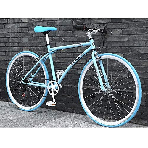 LWJPP 24 velocidades 26 Pulgadas de Bicicletas de montaña Unisex Pista de Bicicleta Plegable de Acero de Alto carbón de la Bicicleta por la Ciudad de tráfico for Trabajar viajan en Coche (Color : A)