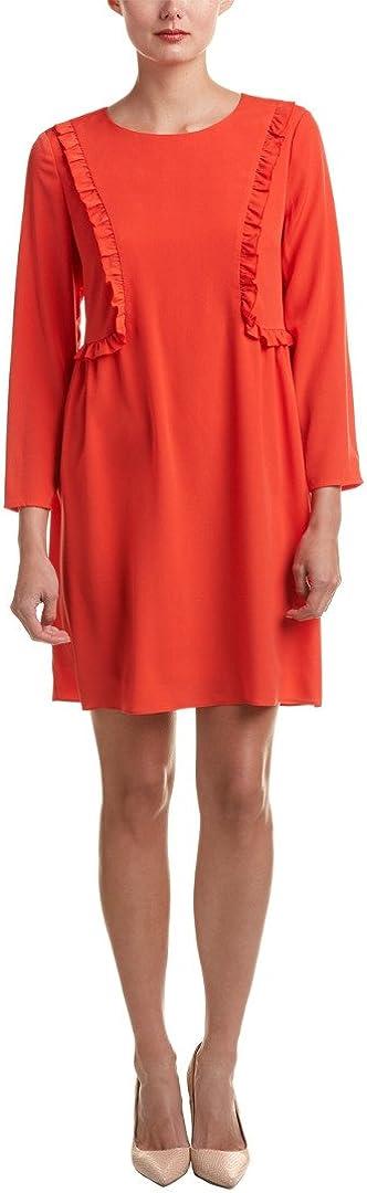 CeCe by Cynthia Steffe Women's Carly-L/s Ruffle Front Dress