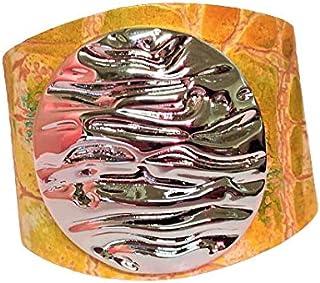 Bracciale Design ispirato dalla passione per il mare le onde e il surf. Il cerchio della vita e le onde in un oggetto di g...