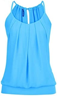 Kimodo Women's T-Shirt Blouse Tank Top Camisole Summer Loose Vest Black Blue Pink Large Size Fashion 2019