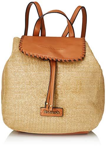REFRESH 83252, Bolso mochila para Mujer, Marrón (Camel), 27x31x16 cm (W x H x L)