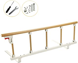 Bed Rails for Elderly Adults Portable Grab Bar Hand Rail Fold Down Assist Handle Bed Cane Medical Hospital Sides Rails Guard Home Care Handicap Safety Assistance Devices (47inch Long)