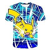 Vanilla Underground Youth Pokemon Pikachu T-Shirt Pullover Fashion Tees for Boys Girls (Youth Pokemon Pikachu-2, 130)