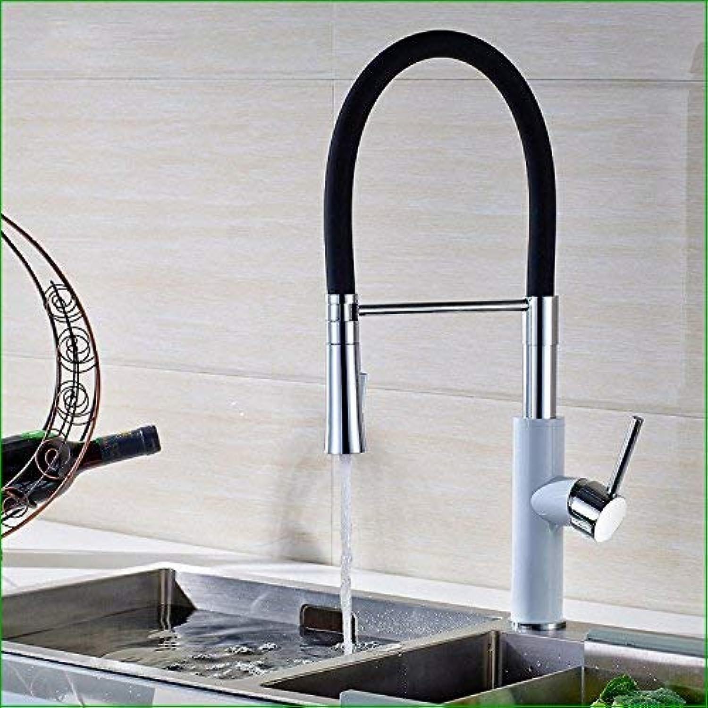 Oudan Zinküberzogene, mit Kupfer gegrillte weie Farbe kann gepumpt Werden, um den Wasserhahn der drehenden Küchen-Gemüsewaschbecken nach unten zu ziehen