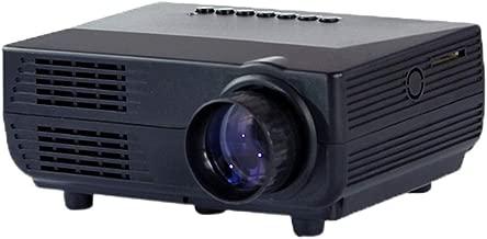 WXX Lin VS311 Mini Projector 150 Lumens LED 480x320 SVGA Multimedia Video Projector, Support HDMI/SD/USB/VGA/AV, Projecting Distance: 1-5m(Black) (Color : Black)