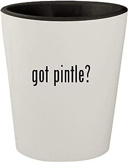 got pintle? - White Outer & Black Inner Ceramic 1.5oz Shot Glass