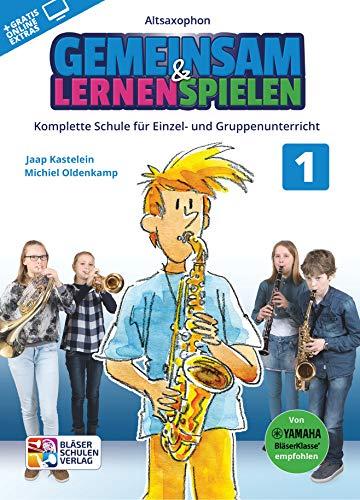 Gemeinsam lernen & spielen Band 1 (+Online-Access) : für Bläserklasse (Blasorchester) Altsaxophon