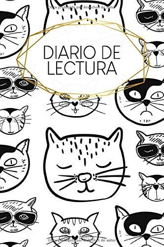 Diario de Lectura: 120 páginas | A5 | Bookjournal | Libro de relleno para todos los lectores ávidos | Diario para los amantes de la literatura | Motivo: Gatos fríos
