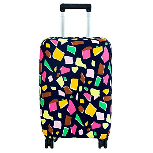 Naroote Luggage Cover, Anti-Scratch Dust Proof Suitcase Cover Elastic Seersucker Print Luggage Protector(M-geometry)