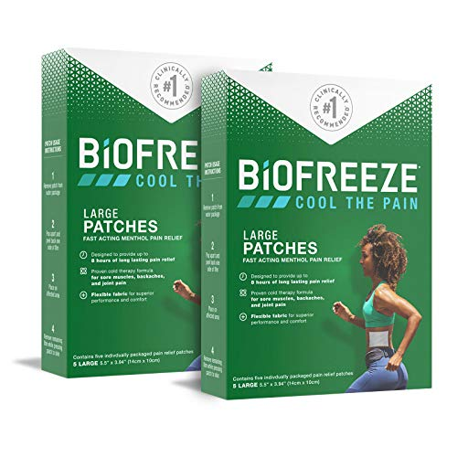 Biofreeze Pain Relief Patch, Large, 10 Patches