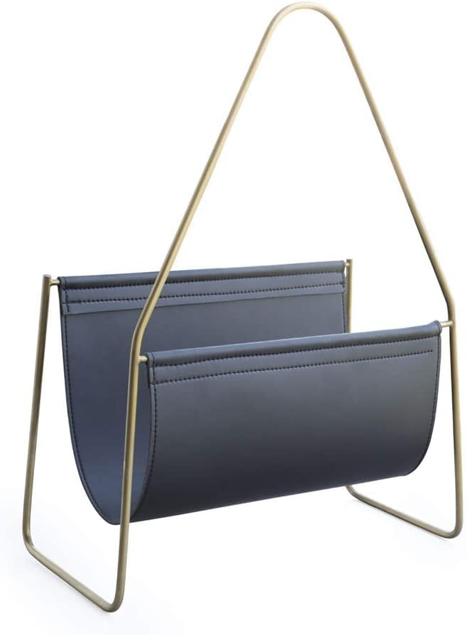 SMLZV Modern Metal Leather We OFFer at cheap prices Multi-Purpose Art - Fil Limited time for free shipping Rack Magazine