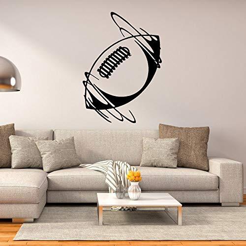 wZUN Etiqueta engomada de la Pared del Arte del Vinilo del fútbol Giratorio Etiqueta engomada de los Deportes Dormitorio de la Familia Art Deco 85X117cm