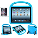 MOXOTEK Kids Case for iPad 2/3/4 (9.7 inch,2011/2012), Durable Lightweight Shockproof Protective Handle Stand Bumper Cover with Screen Protector for Apple iPad 2nd,3rd,4th Generation, Blue