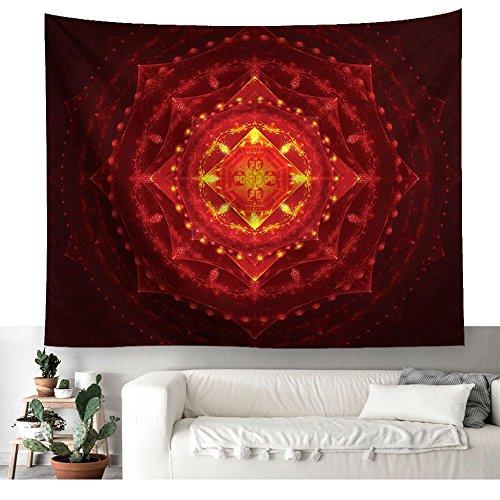 Magische Pentagramm Symbol Wandteppich Mystische Pentagram mit Licht Wandkunst Tapisserie Böhmische Hippie Wanddecke Indische Mandala Strandwurf Tagesdecke Tischdecke Vorhang Pattern3 59 * 51in