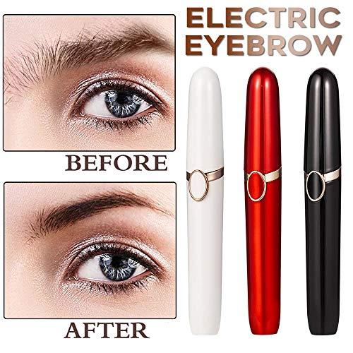 Elektrische wenkbrauw trimmer Mini Lip Hair Epilator wenkbrauw ontharing gezicht Pijnloos Eye Brow Shaver Razors for Women,Red